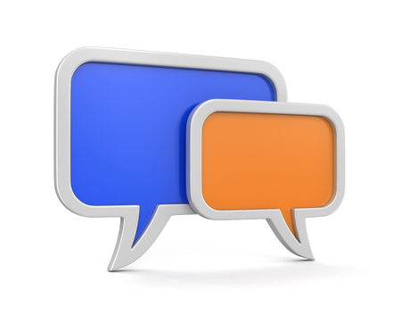 chat room: speech bubbles (clipping path included)