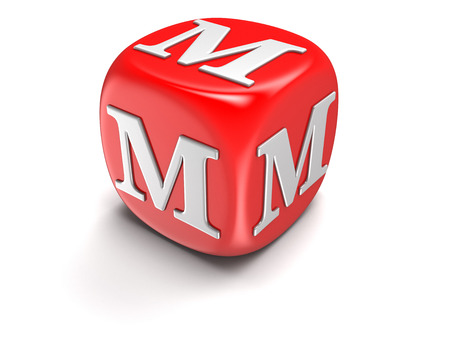 whitern: Dice with letter M