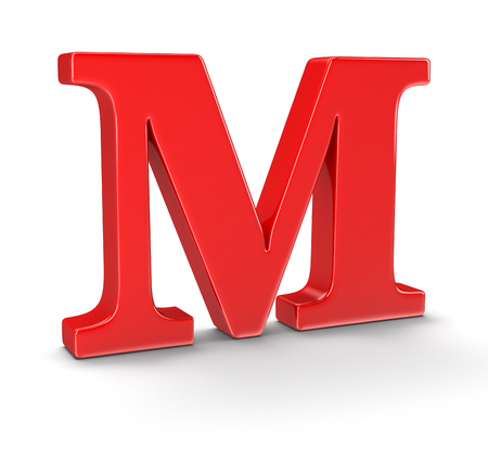 whitern: Letter M  Stock Photo
