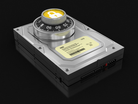 hard drive: Hard Drive Protection (clipping path included) Stock Photo