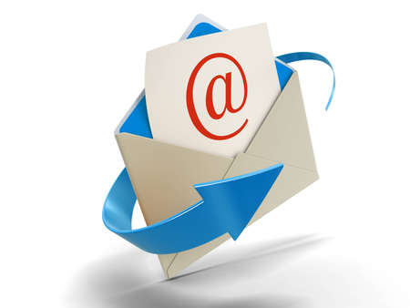 Letter E-mail (clipping path included) photo