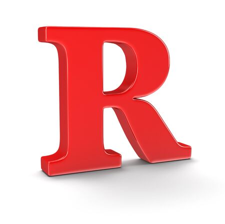 r image: Letter R  Stock Photo