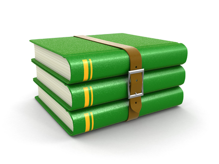whitern: Stack of book with belt