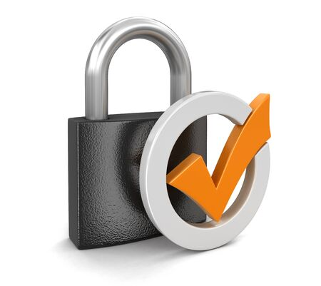 Lock (clipping path included)