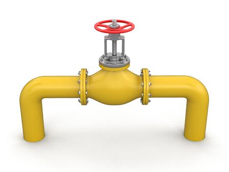 stop gate valve: Pipeline Stock Photo