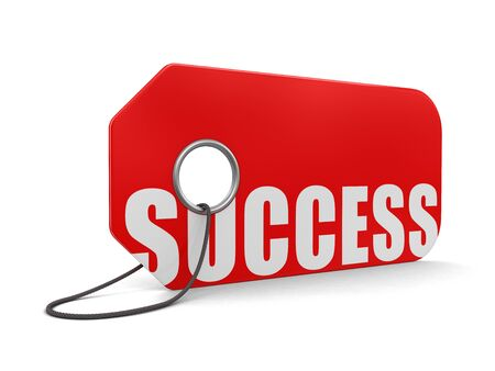 price hit: Label success (clipping path included)