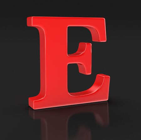 included: Letter E (clipping path included)