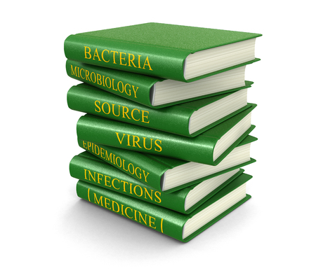 isolatedrn: Virus books related (clipping path included) Stock Photo