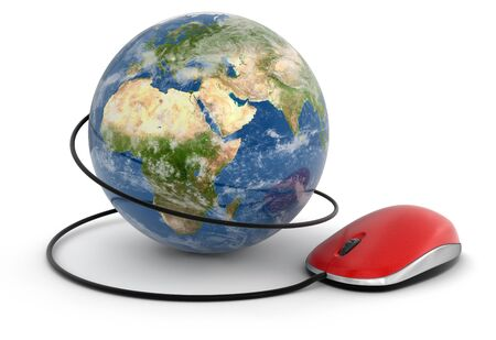 isolatedrn: Globe and Computer Mouse (clipping path included)