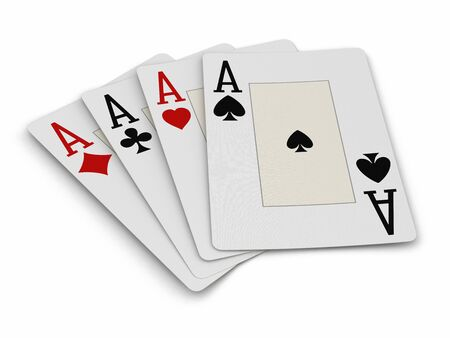 isolatedrn: aces (clipping path included) Stock Photo