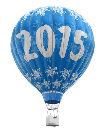 isolatedrn: Hot Air Balloon with 2015 (clipping path included)