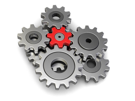 isolatedrn: Cogwheels (clipping path included)