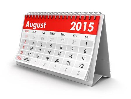 Calendar -  August 2015  photo