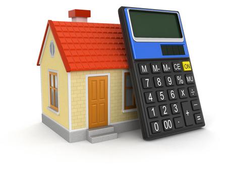 House and Calculator  版權商用圖片