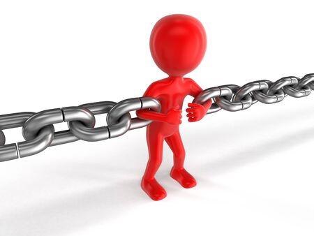 human character: Human character and chain