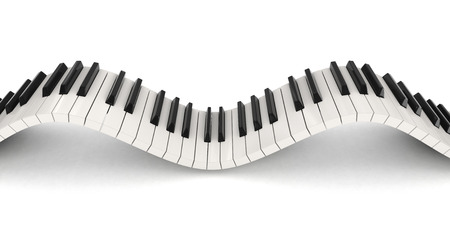 musical instrument parts: Piano keys (clipping path included)