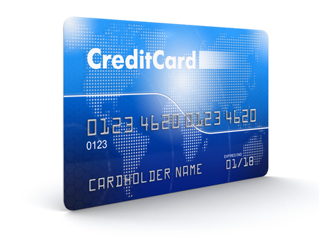service card: Credit Card (clipping path included) Stock Photo