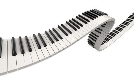 Piano-Tasten (Beschneidungspfad enthalten) Standard-Bild - 38863252