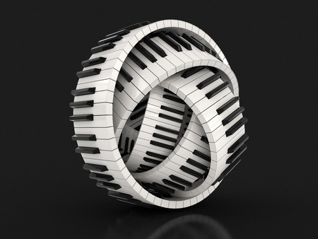 piano: Llaves del piano (camino de recortes incluido) Foto de archivo