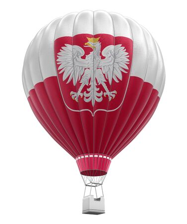 isolatedrn: Hot Air Balloon with Polish Flag