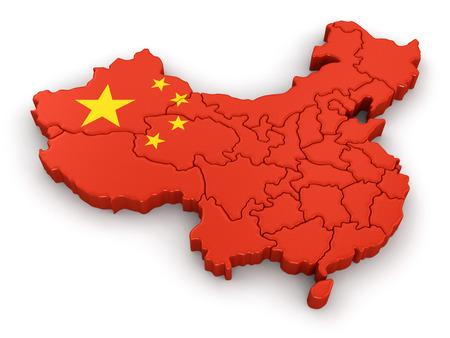 Map of China. Stock Photo