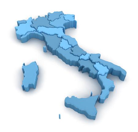 italy map: Map of Italy. Stock Photo