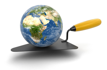 home addition: Globe and Trowel