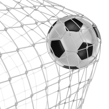 soccerball: Soccerball in net clipping path included