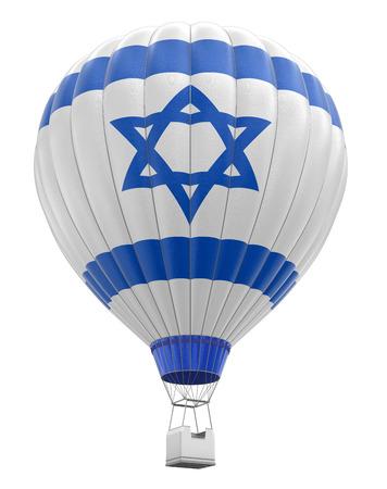 israeli flag: Hot Air Balloon with Israeli Flag clipping path included Stock Photo