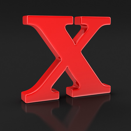 letter x: Letter X clipping path included