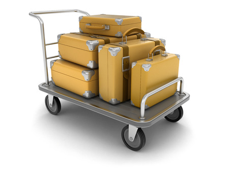 handtruck: Handtruck and Suitcases clipping path included