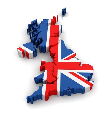 united kingdom: Map of United Kingdom.  Stock Photo