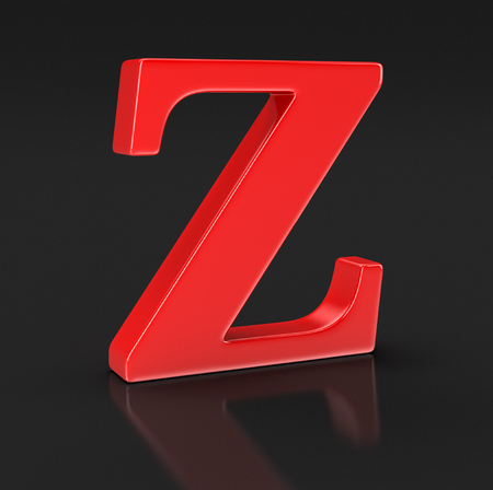 letter z: Letter Z clipping path included Stock Photo