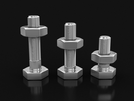 lustre: Metal bolts clipping path included