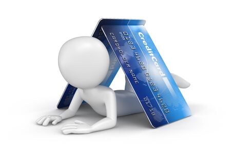 commercial activity: Man with Credit Cards