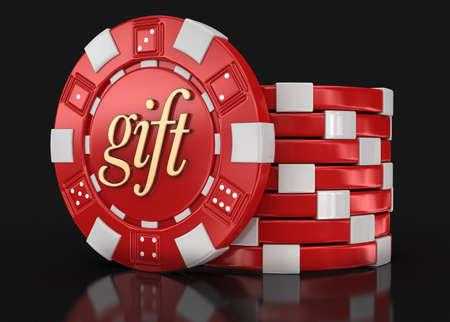 casino chips: chip of casino gift
