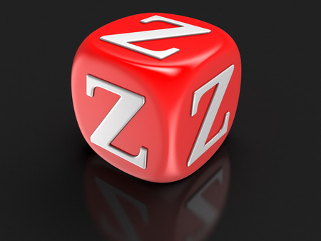letter z: Dice with letter Z