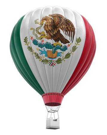 bandera de mexico: Globo aerost�tico con la bandera mexicana