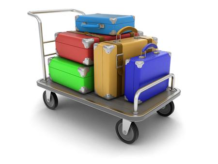 handtruck: Handtruck and Suitcases Stock Photo