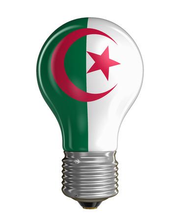 Algierski: Żarówka z flagą Algierii
