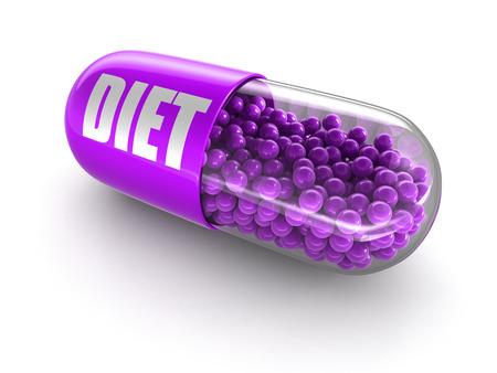 Pil dieet knippen inbegrepen weg