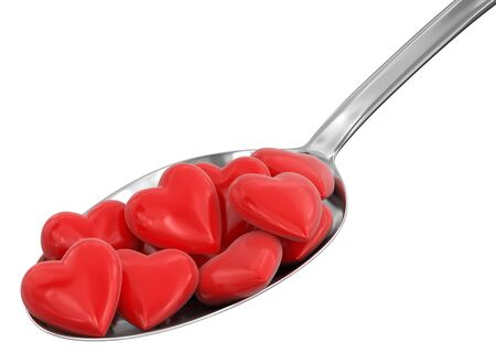 Spoon and Hearts clipping path included photo