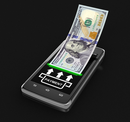 touchscreen: Touchscreen smartphone with dollar clipping path included