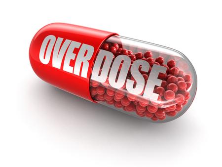 sobredosis: Sobredosis Pill Foto de archivo
