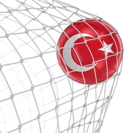 soccerball: Turkish soccerball in net.