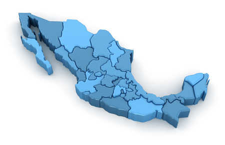 Map of Mexico. Image with clipping path. 写真素材