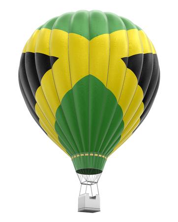 jamaican flag: Hot Air Balloon with Jamaican Flag