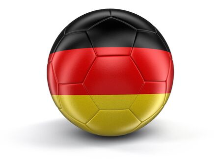 german flag: Soccer football with German flag.