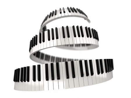 octave: Piano keys clipping path included