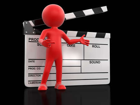 clapboard: Man with Clapboard